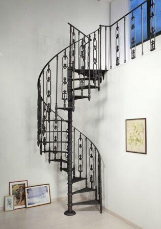 чугунная лестница винтовая _S160G